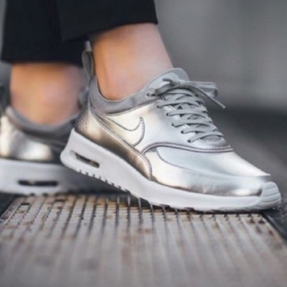 Nike Shoes Silver Premium Air Max Thea Poshmark